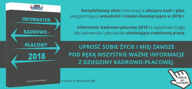 Informator Kadrowo - Płacowy 2018