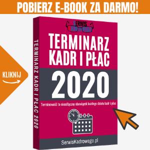 Kliknij aby pobrać - Terminarz Kadr i Płac 2020