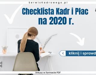 Checklista Kadr i Płac 2020